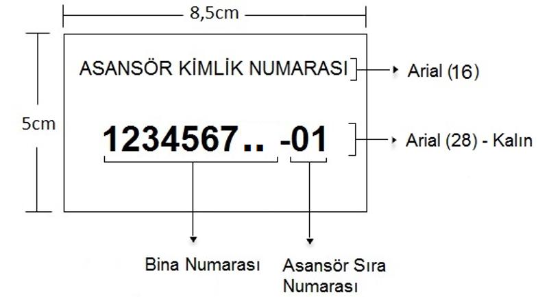 Asansör Kimlik Etiketi